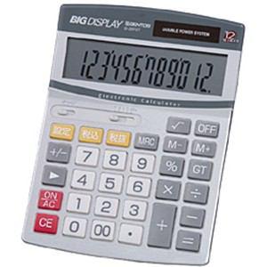 ジェントス D-2870T ビッグディスプレイ卓上電卓 ビッグサイズ 12桁