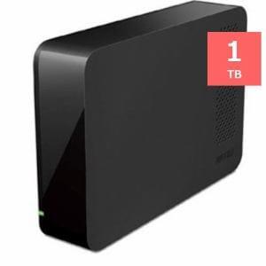 バッファロー USB3.0用 外付けHDD 1TB ブラック HD-LC1.0U3-BKD