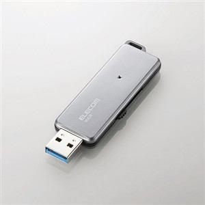 エレコム 高速USB3.0メモリ グレー 64GB MF-RDSU364GGY