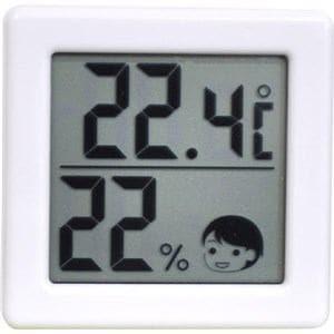 ドリテック 小さいデジタル温湿度計 ホワイト O-257WT