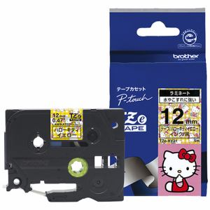 ブラザー ラミネートテープ(ハローキティキャラクター) ハローキティイエロー TZe-HY31