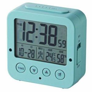 エレコム 電波デジタル目覚まし時計 ブルー CLK-DD001BU