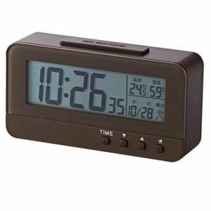 エレコム CLK-DN001BR デジタル目覚まし時計 ブラウン