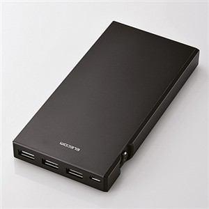 エレコム タブレット・スマートフォン用モバイルバッテリー ブラック DE-M01L-9045BK