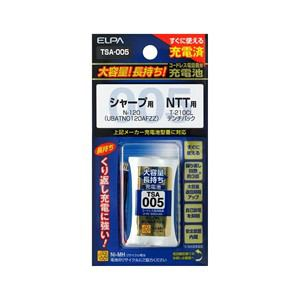 ELPA 電話子機用充電池 TSA-005