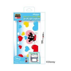マックスゲームズ Newニンテンドー3DS LL専用コーディネートセット ハートバルーン(ミッキー&ミニー) REDS-01HB