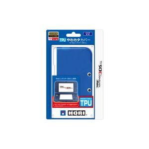 ホリ TPUやわカタカバー for Newニンテンドー3DSLL クリアブルー 3DS-445