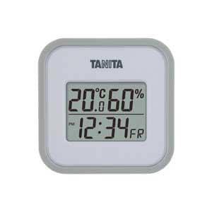 タニタ 温湿度計(グレー) TT-558-GY