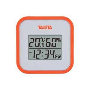 タニタ 温湿度計(オレンジ) TT-558-OR
