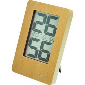 クレセル CR-2200W 天然木デジタル温湿度計 ホワイト