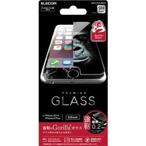 エレコム PM-A15LFLGGGO iPhone 6s Plus用液晶保護ガラス ゴリラ