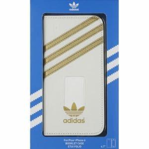 adidas オリジナルス iPhone 6/6s用ケース Booklet Case ホワイト/ゴールド 18301