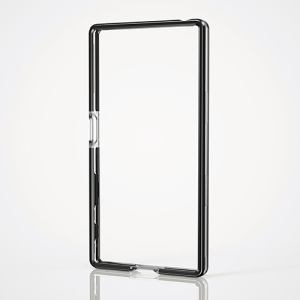 エレコム Xperia Z5用ハイブリッドバンパー ブラック PM-SOZ5HVBBK