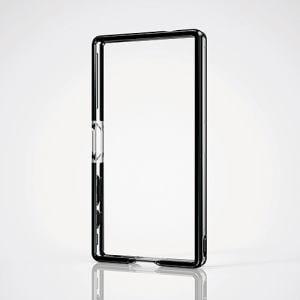 エレコム Xperia Z5 Compact用ハイブリッドバンパー ブラック PD-SO02HHVBBK
