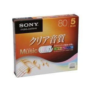 <ヤマダ> SONY ソニー CD-R・RW  5CRM80HPXS 5CRM80HPXS 80画像