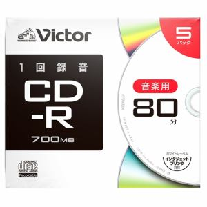 Victor(ビクター) AR80FP5J2 音楽用 CD-R  プリンタ対応 5枚 ケース入り