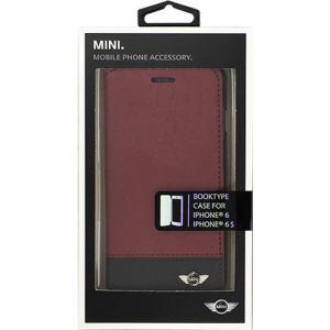 エアージェイ BMW MINI(ミニ)公式ライセンス品 iPhone6/6s専用ソフトレザー・ツートンカラー手帳型ケース レッド MNFLBKP6BCRE