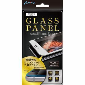 Air-j(エアージェイ) シリコンフレーム付ガラスパネル 9H for iPhone6/6s ホワイト VGP-9H-SR WH