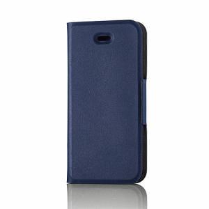 エレコム PM-A16SPLFUMBU iPhone SE/5/5s用レザーカバー/薄型(磁石付) ブルー