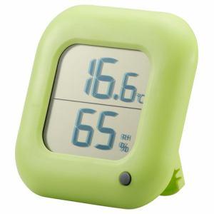 オーム電機 TEM-100-G デジタル温湿度計 緑