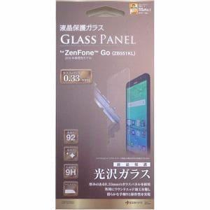 ラスタバナナ GP727GO ZenFone Go用液晶保護ガラス 高光沢タイプ