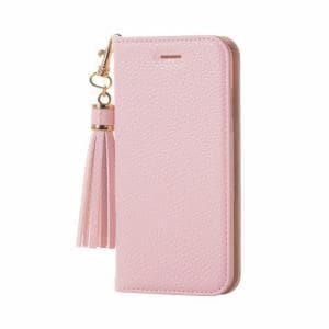 エレコム PM-A17MPLFTLPN iPhone 8用 ソフトレザーカバー女子向タッセル ピンク
