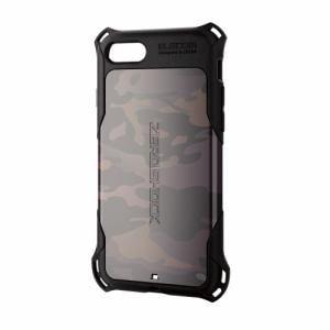 エレコム PM-A17MZEROT3 iPhone 8用 ZEROSHOCKスタンダード マルチカムブラック