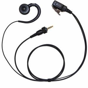 FRC FPG-26KWP トランシーバー用イヤホンマイク(PRO用、耳掛けスピーカータイプ、KENWOOD(1pin/防水ジャック)対応) FIRSTEC FPG-26KWP