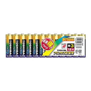 東芝 12MP アルカリ乾電池 単3形 12本 LR6AG