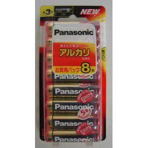 <ヤマダ> パナソニック アルカリ乾電池単3形8本パック LR6XJ/8B