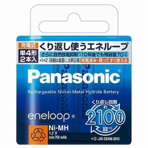 パナソニック ニッケル水素充電池 (eneloop)エネループ 単4形 2本パック(スタンダードモデル) BK-4MCC/2