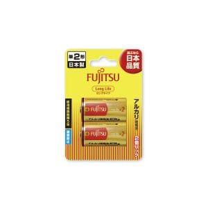 富士通 アルカリ乾電池 ロングライフタイプ (ブリスターパック) 単2形 1.5V 2個パック LR14FL(2B)