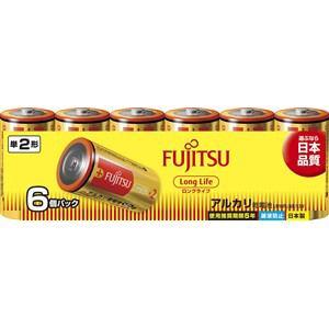 富士通 アルカリ乾電池 ロングライフタイプ 単2形 1.5V 6個パック LR14FL(6S)