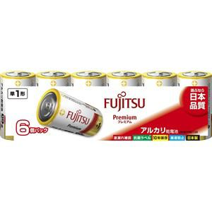 富士通 アルカリ乾電池 プレミアムタイプ 単1形 1.5V 6個パック LR20FP(6S)