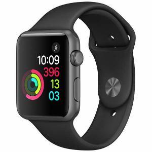 アップル(Apple) MP032J/A Apple Watch Series 1 42mm スペースグレイアルミニウムケースとブラックスポーツバンド