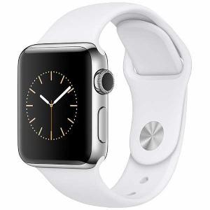 アップル(Apple) MNTC2J/A Apple Watch Series 2 38mm ステンレススチールケースとホワイトスポーツバンド