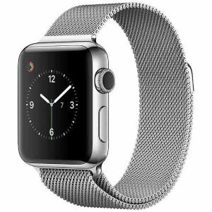 アップル(Apple) MNTE2J/A Apple Watch Series 2 38mm ステンレススチールケースとミラネーゼループ