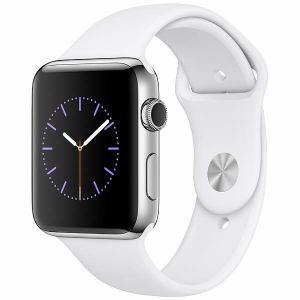 アップル(Apple) MNTX2J/A Apple Watch Series 2 42mm ステンレススチールケースとホワイトスポーツバンド