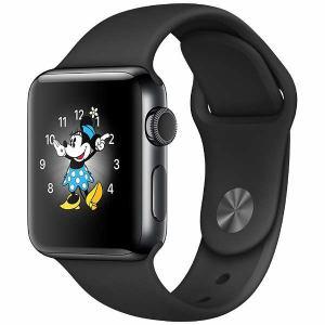 アップル(Apple) MP4D2J/A Apple Watch Series 2 38mm スペースブラックステンレススチールケースとブラックスポーツバンド