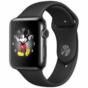 アップル(Apple) MP4E2J/A Apple Watch Series 2 42mm スペースブラックステンレススチールケースとブラックスポーツバンド