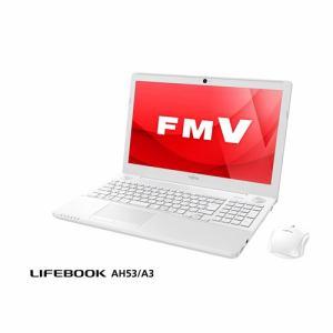 富士通 FMVA53A3W ノートパソコン FMV LIFEBOOK AH53/A3