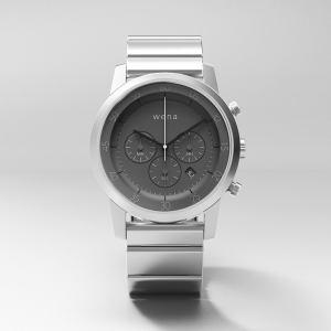 ソニー WN-WC01S ウェラブル端末 「wena wrist(ウェナ リスト) Chronograph(クロノグラフ)」シルバー