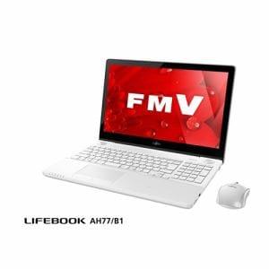 富士通 FMVA77B1W ノートパソコン FMV LIFEBOOK AH77/B1