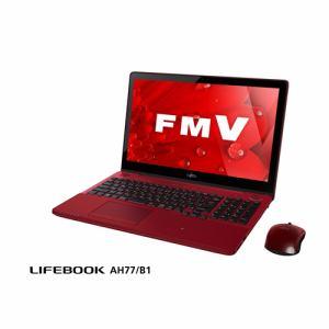 【クリックで詳細表示】富士通 FMVA77B1R ノートパソコン FMV LIFEBOOK AH77/B1