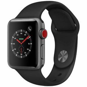 アップル(Apple) MQKG2J/A Apple Watch Series 3(GPS + Cellularモデル) 38mm スペースグレイアルミニウムケースとブラックスポーツバンド