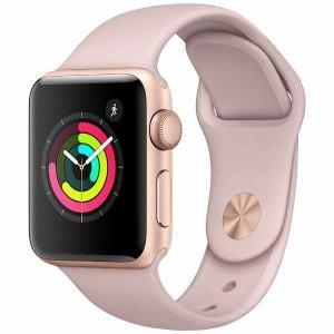 アップル(Apple) MQKW2J/A Apple Watch Series 3(GPS) 38mm ゴールドアルミニウムケースとピンクサンドスポーツバンド