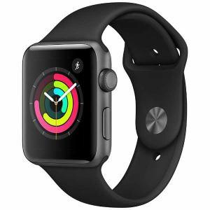 アップル(Apple) MQL12J/A Apple Watch Series 3(GPS) 42mm スペースグレイアルミニウムケースとブラックスポーツバンド