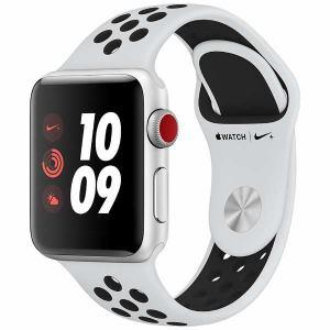 アップル(Apple) MQM72J/A Apple Watch Nike+(GPS + Cellularモデル) 38mm シルバーアルミニウムケースとピュアプラチナ/ブラックNikeスポーツバンド