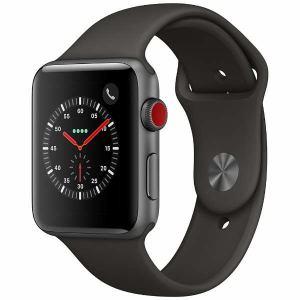 アップル(Apple) MR302J/A Apple Watch Series 3(GPS + Cellularモデル) 42mm スペースグレイアルミニウムケースとグレイスポーツバンド