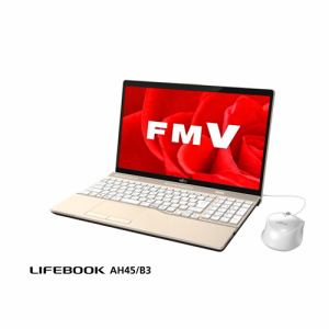富士通 FMVA45B3G ノートパソコン FMV LIFEBOOK AH45/B3 シャンパンゴールド